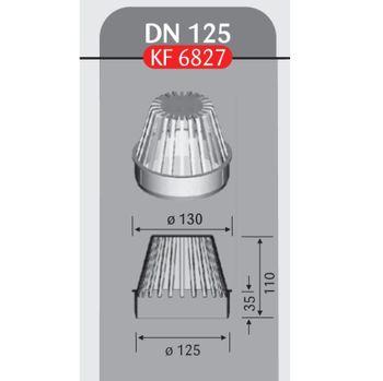 Flachdach Laubfang DN 125 Hart PVC für Dachablauf – Bild $_i