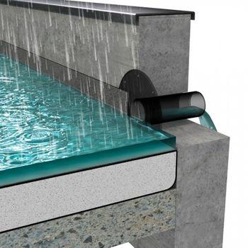 Flachdach Attika Balkon Ablauf DN 100 Bitumen-Anschluss – Bild $_i