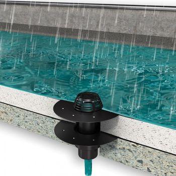 Flachdach Dachablauf Aufstockelement Gully DN 125 PVC-Anschluss – Bild $_i