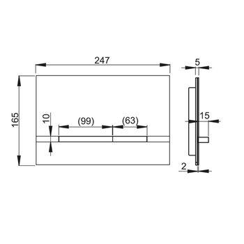 Alu Betätigungsplatte Stripe silber Drückerplatte für Spülkasten – Bild $_i