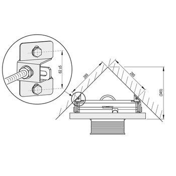 Adapter für WC-Eckmontage Vorwandelement Unterspülkasten – Bild $_i