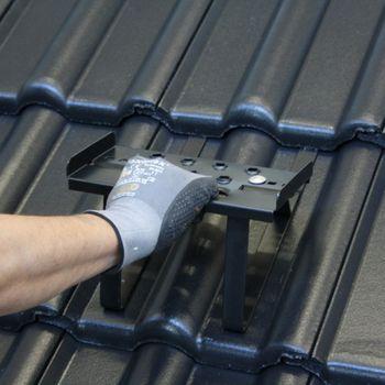 Trapac Universal Metall Dach Einzeltritt 25 cm braun Dachtritt – Bild $_i
