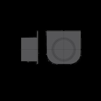 Stirnwand Anschluss 75 mm für Entwässerungsrinne – Bild $_i