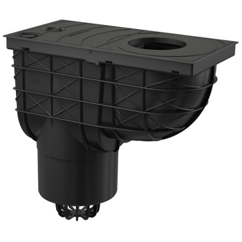 Universal Regensinkkasten 300x155/125 Abgang senkrecht schwarz – Bild $_i