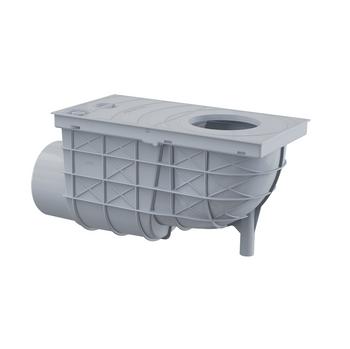 Alcaplast Universal Regensinkkasten 300x155/110 Abgang waagrecht grau – Bild $_i