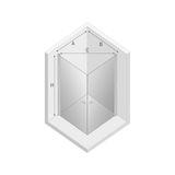 New Soleo 2D Duschabtrennung 80x80x195 cm 2-türig quadratisch