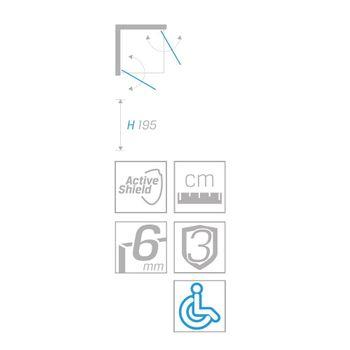 New Soleo 2D Duschabtrennung 100x100x195 cm 2-türig quadratisch – Bild $_i