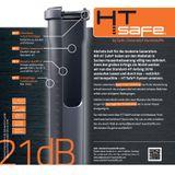 HTSafe Rohr Abflussrohr DN 50 x 750 mm grau