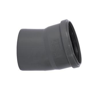 HTSafe Rohr Bogen DN 110 15 Grad Winkel Abflussrohr grau – Bild $_i