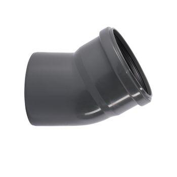 HTSafe Rohr Bogen DN 110 30 Grad Winkel Abflussrohr grau – Bild $_i
