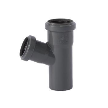 HTSafe Rohr Abzweig Abzweigung DN50/40/67 Grad Abflussrohr grau – Bild $_i
