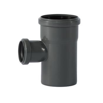 HTSafe Rohr Abzweig Abzweigung DN90/50/87 Grad Abflussrohr grau – Bild $_i