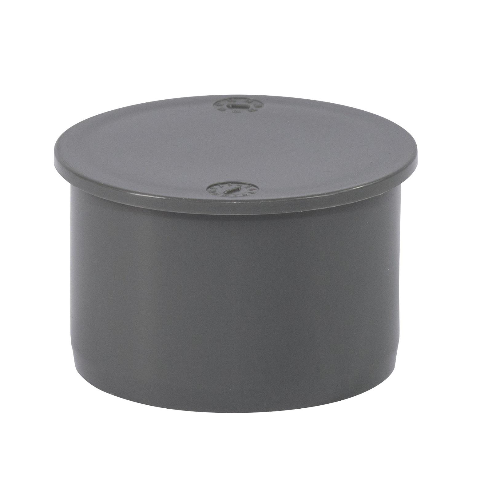 htsafe muffenstopfen dn50 kunststoff rohr stopfen deckel grau. Black Bedroom Furniture Sets. Home Design Ideas