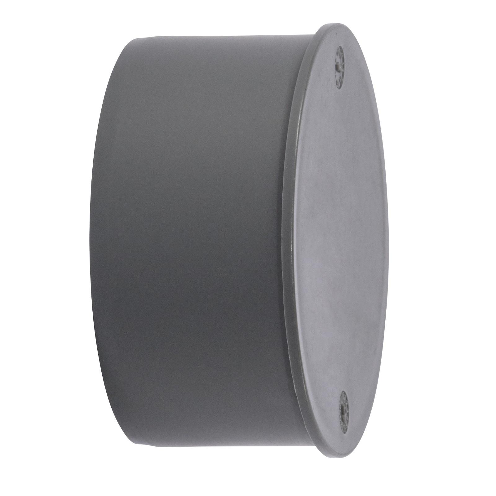 HTSafe Muffenstopfen DN75 Kunststoff Rohr Stopfen Deckel grau