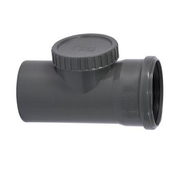 HTSafe Reinigungsrohr DN110 Revisionsrohr Reinigungsöffnung grau – Bild $_i