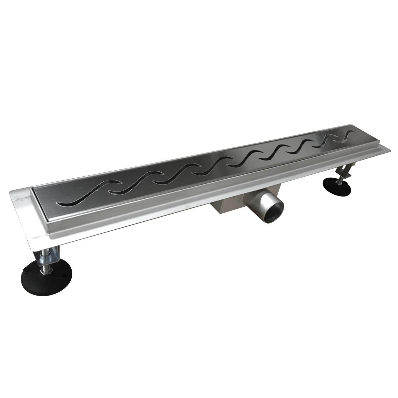 edelstahl duschrinne yukon ablaufrinne bodenablauf 60 cm. Black Bedroom Furniture Sets. Home Design Ideas