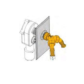Doppelschlauchtülle Geräteanschlußtülle Unterputz-Geräte-Siphon – Bild $_i