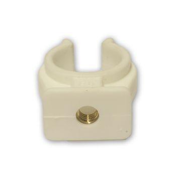 Kunststoff Rohrclips Rohrklammern 6-42 mm einfach weiss – Bild $_i