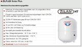 Zilmet Zilflex Solar Plus Ausdehnungsgefäße 18-105L Druckgefäße