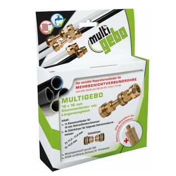 Gebo Multigebo Klemmverbinder 16mm mit Längenausgleich