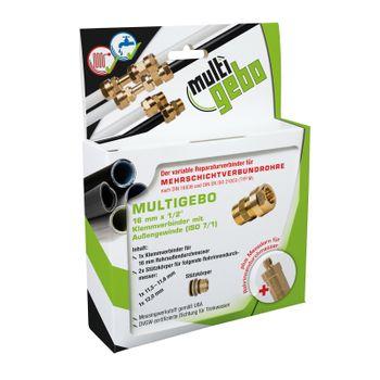 Gebo Multigebo Klemmverbinder 20mm mit Aussengewinde – Bild $_i