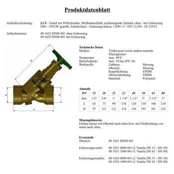 KFR Ventil 1/2 bis 2 Zoll Schrägsitzventil nicht steigende Spindel – Bild $_i