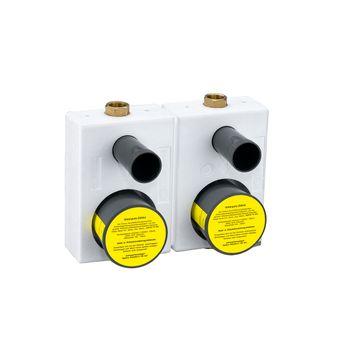 Montageblock WG-TEC 3000 doppelt für UP Wasserzähler – Bild $_i