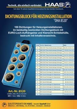 Haas Dichtungsblock Dichtungssortiment OHA 8520 Heizung – Bild $_i