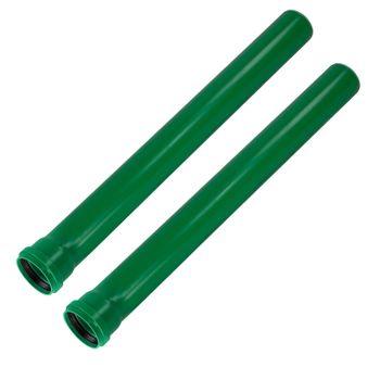 2x KG 2000 Rohr DN110 x 2000 mm Abwasserrohr Kanalrohr grün – Bild $_i