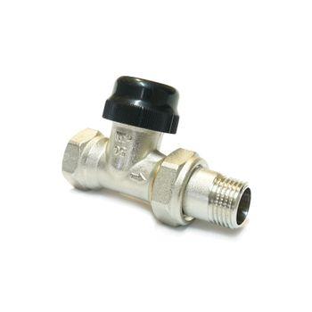 Durchgangs-Thermostatventil 1/2 Zoll Serie N mit Durchfluss-Wählschalter – Bild $_i