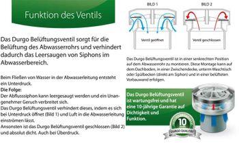 Durgo Belüftungsventil DN15 1/2 Zoll Aussen-Gewinde Sifon Siphon Rohrbelüfter – Bild $_i
