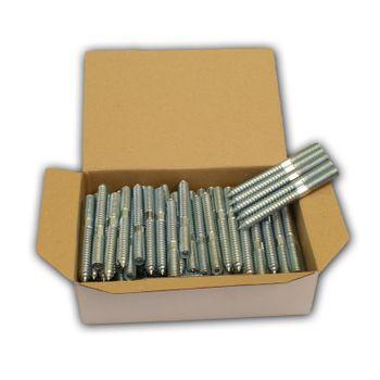 100x Stockschrauben M10 x 60 mm Gewinde Holzschrauben verzinkt – Bild $_i