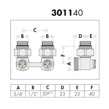 "Hahnblock 1/2"" x 3/4"" Eckform Zweirohr Messing Doppelkugelhahn – Bild $_i"