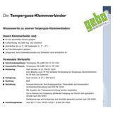Temperguss Klemmverbinder 1/2  Zoll IG x 21,3 mm Stahlrohr