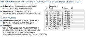 """Temperguss Klemmverbinder 3/4"""" Zoll 26,9 mm Kupplung Stahlrohr – Bild $_i"""