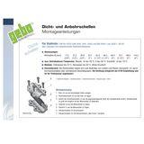 Temperguss Reparaturschelle Dichtschelle DN15 1/2 Zoll (21,3 mm)