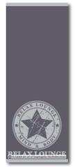 Saunatuch 70x180 cm 100% Baumwolle Grau