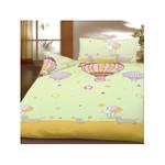 Kinder Bettwäsche 100x135 cm Baumwolle Grün Heißluftballon 001