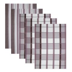 5er Set Baumwoll Geschirrtücher 50x70 cm Braun – Bild 1
