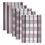5er Set Baumwoll Geschirrtücher 50x70 cm Braun