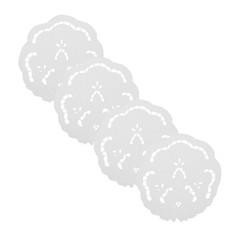Platzdeckchen 25 cm Tischdeckchen Weiss