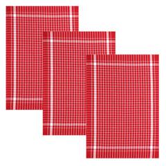 Geschirrtuch Baumwolle 45x70 cm 1er 3er oder 6 Set Rot – Bild 3