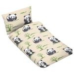 Kinder Bettwäsche 100x135 cm Beige Panda 001