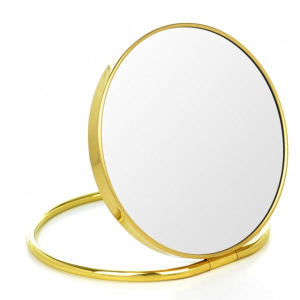 Stand- und Taschenspiegel mit Etui, Ø 16cm, 5-fach – Bild 1