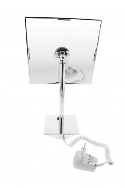 Beleuchteter Stand-Kosmetikspiegel eckig, 20x20cm, 3fach – Bild 3