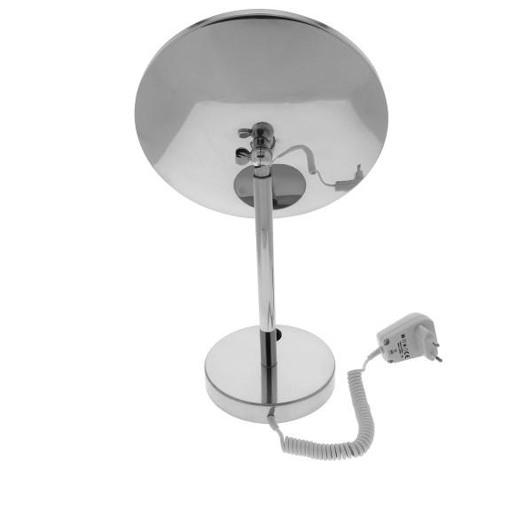 Beleuchteter Stand-Kosmetikspiegel,  Ø 22cm, 3/5fach – Bild 3