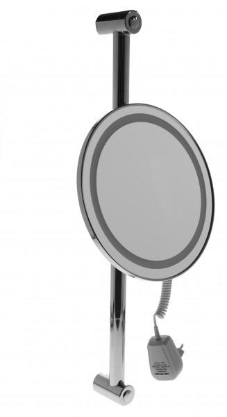 Beleuchteter Wand-Kosmetikspiegel, Ø 22cm, 3fach – Bild 1