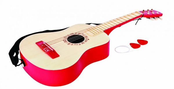 Kindergitarre in Rot – Bild 2