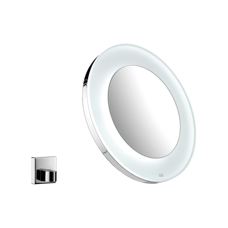 LED Akku-Kosmetikspiegel, Ø 265 mm, Farbwechsel, stufenlos dimmbar, 3/5-fach – Bild 1