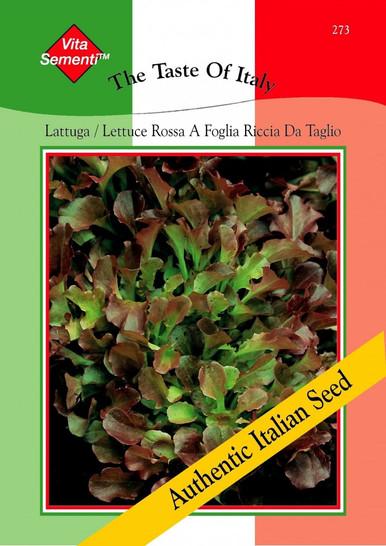 Salatsamen - Salat Lattuga Rossa A Foglia Riccia Da Taglio von Thompson & Morgan